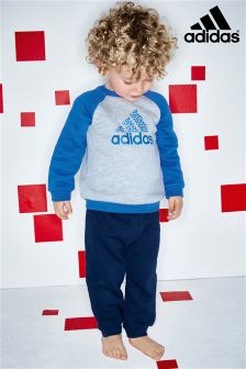 adidas Infant Crew Blue Jogger Set