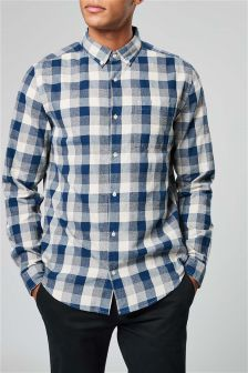 Long Sleeve Grindle Buffalo Check Shirt