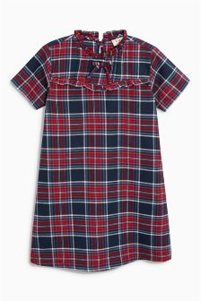 Tartan Tie Neck Dress (3-16yrs)