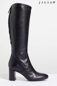 Jigsaw Black Madsen Knee High Boot
