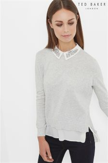 Ted Baker Grey Miriah Shirt Jumper