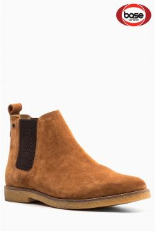 Base London Tan Suede Chelsea Boot