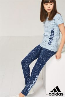 adidas Blue Speckle Legging