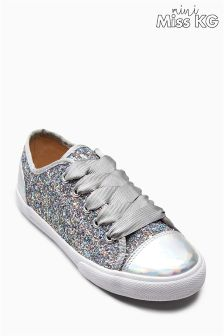 Mini Miss KG Silver Glitter Mini Lucca Trainer