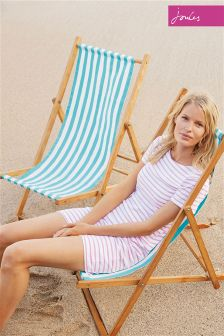 Joules Hope Pink Stripe Jersey T-Shirt Dress