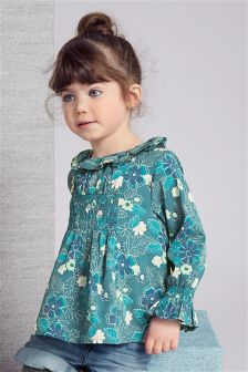 Printed Long Sleeve Blouse (3mths-6yrs)