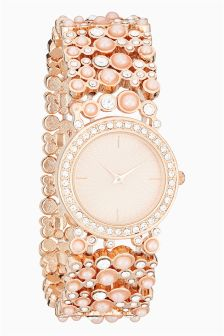 Pearl Stretch Bracelet Watch