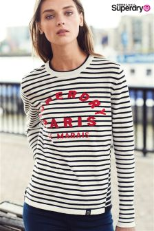 Superdry Navy/Cream Le Marais Stripe Knit
