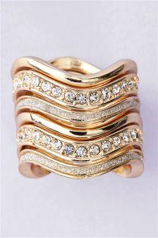 Diamanté Detail Ring