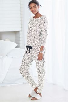 Love Print Jersey Pyjamas