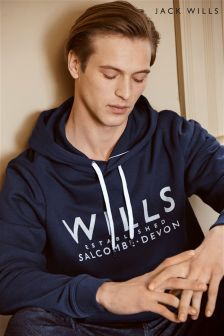 Jack Wills Batsford Grey Logo Hoody