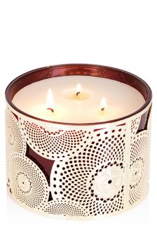 3 Wick Golden Amberwood Fragrance Candle