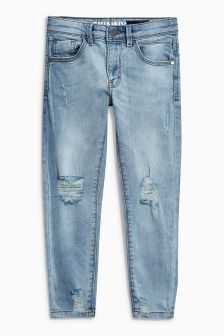 Bleach Distressed Skinny Jeans (3-16yrs)