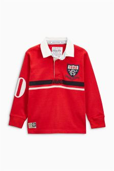 Long Sleeve Rugby Shirt (3-16yrs)