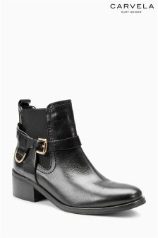 Carvela Saddle Black Leather Ankle Boot