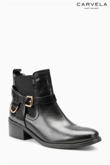 Carvela Saddle Black Leather Ankle Boot
