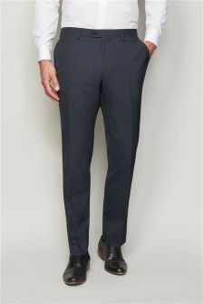 Textured Tailored Fit Suit Trousers