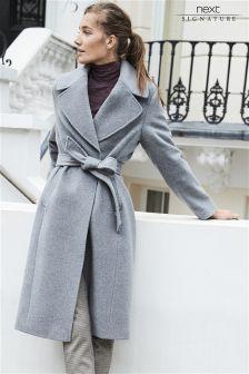 Signature Belted Coat