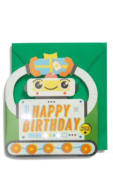 Light Up Robot Birthday Card