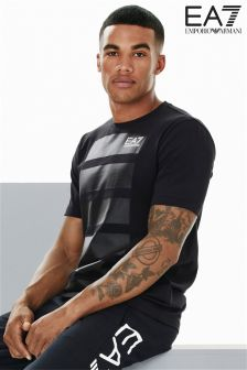 EA7 Emporio Armani Black Graphic T-Shirt