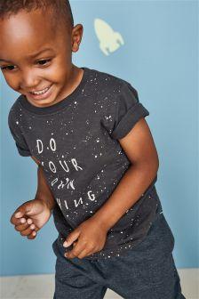 Slogan Short Sleeve T-Shirt (3mths-6yrs)