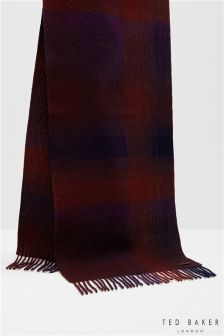 Ted Baker Checked Merino Scarf