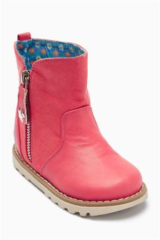 Zip Detail Boots (Younger Girls)