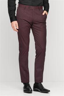 Texture Tuxedo Suit Trousers
