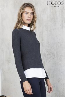 Hobbs Charcoal/White Milly Sweater