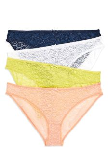 Lace Mini Briefs Four Pack