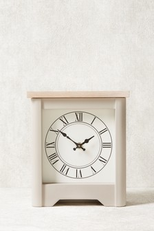 Hampton Wooden Mantle Clock