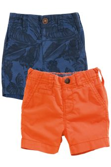 Casual Chino Shorts Two Pack (3mths-6yrs)