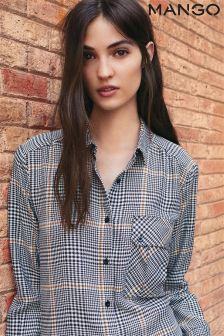 Mango Grey Check Heavyweight Shirt