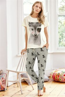 Raccoon Cuffed Pyjamas