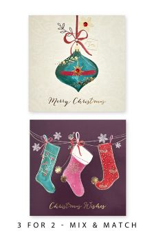 12 Stocking And Bauble Cards