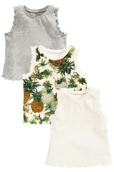 Pineapple Vests Three Pack (3mths-6yrs)