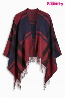 Superdry Checked Arizona Wrap Poncho