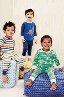 Dinosaur And Stripe Pyjamas Three Pack (9mths-8yrs)