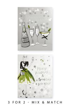 12 Christmas Party Cards
