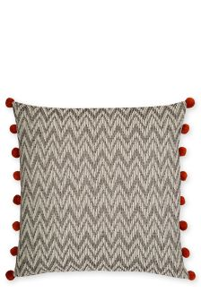 Large Chocolate Woven Chevron Cushion