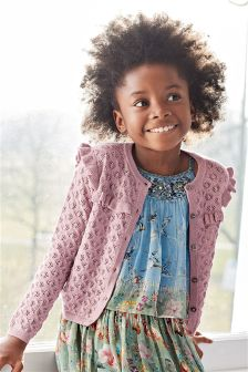 Pointelle Sparkle Cardigan (3-16yrs)