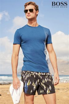 Hugo Boss Black Boats Print Swim Short