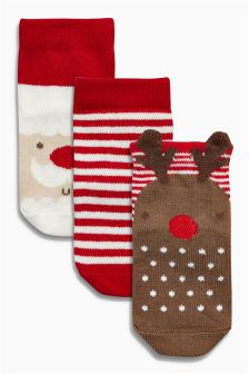 Christmas Socks Three Pack (Younger Boys)