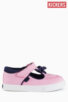 Kickers® Pink Tovni T-Bar Velcro Shoe