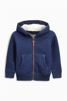 Borg Lined Zip Through Hoody (3-16yrs)