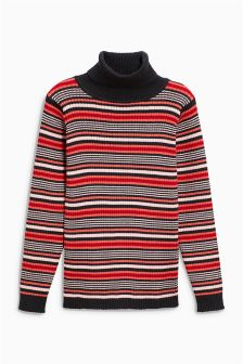 Stripe Roll Neck Jumper (3mths-6yrs)