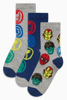 Avengers Socks Three Pack (Older Boys)