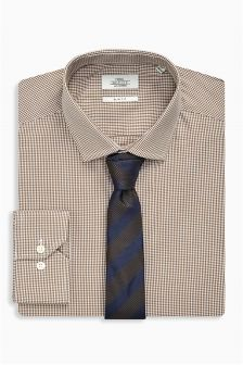 Check Shirt And Tie Set