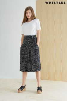 Whistles Black Avie Sahara Skirt