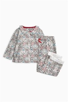 Floral Button Through Pyjamas (9mths-8yrs)